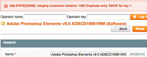 SQLSTATE[23000]: Integrity constraint violation: 1062 Duplicate entry '65535' for key 1
